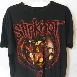 Vintage 9 Member Slipknot Black Graphic T-Shirt